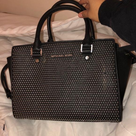 196a809b26f2 Authentic Michael Kors studded crossbody purse. M_5c403859de6f62af6fc50fa3